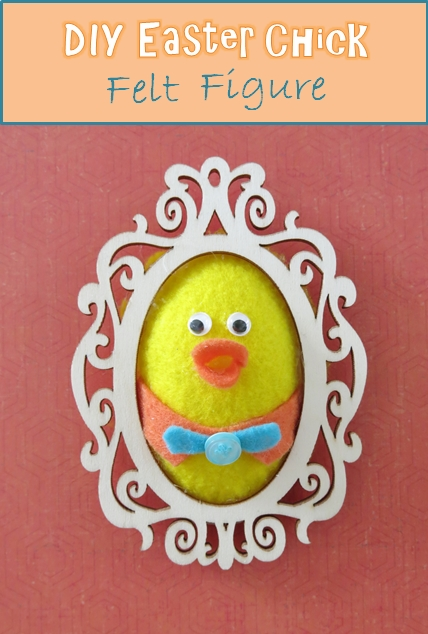 Sewing tutorial: Framed felt chick