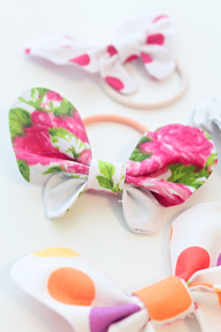 Sewing tutorial: Spring butterfly hair bow