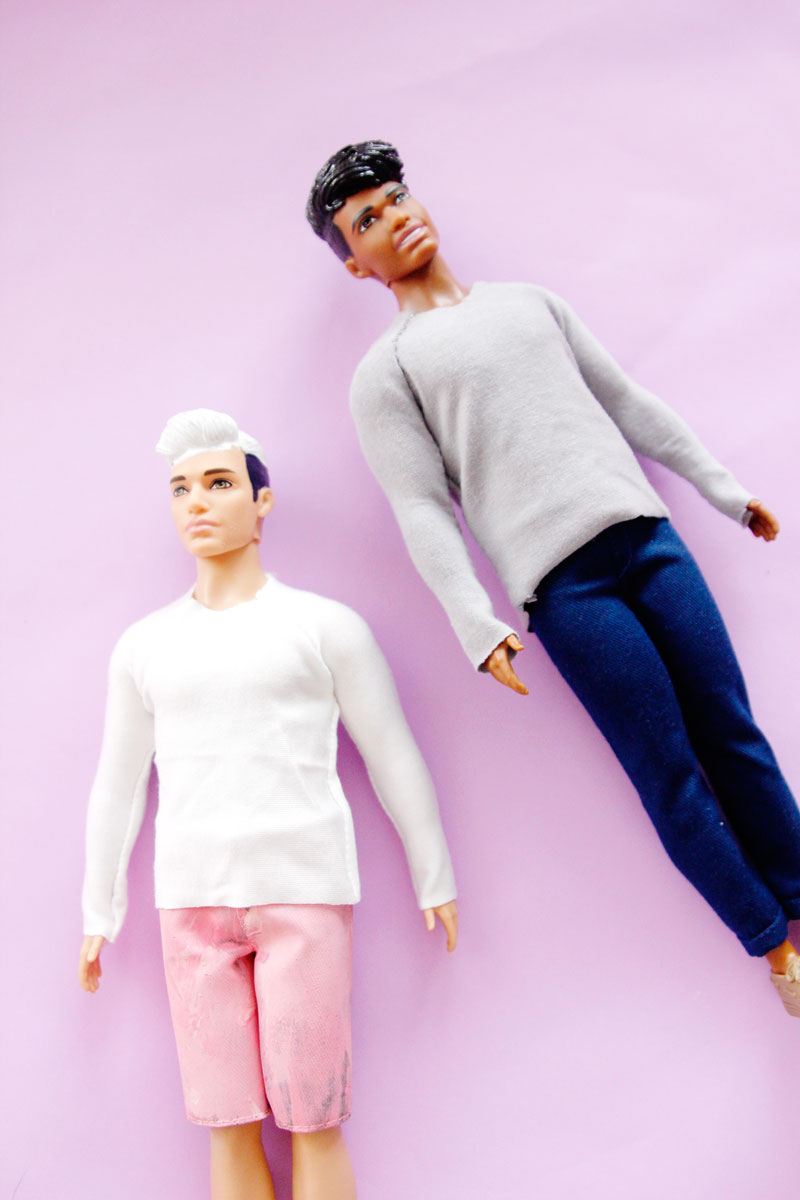 Free pattern: Ken doll raglan shirt