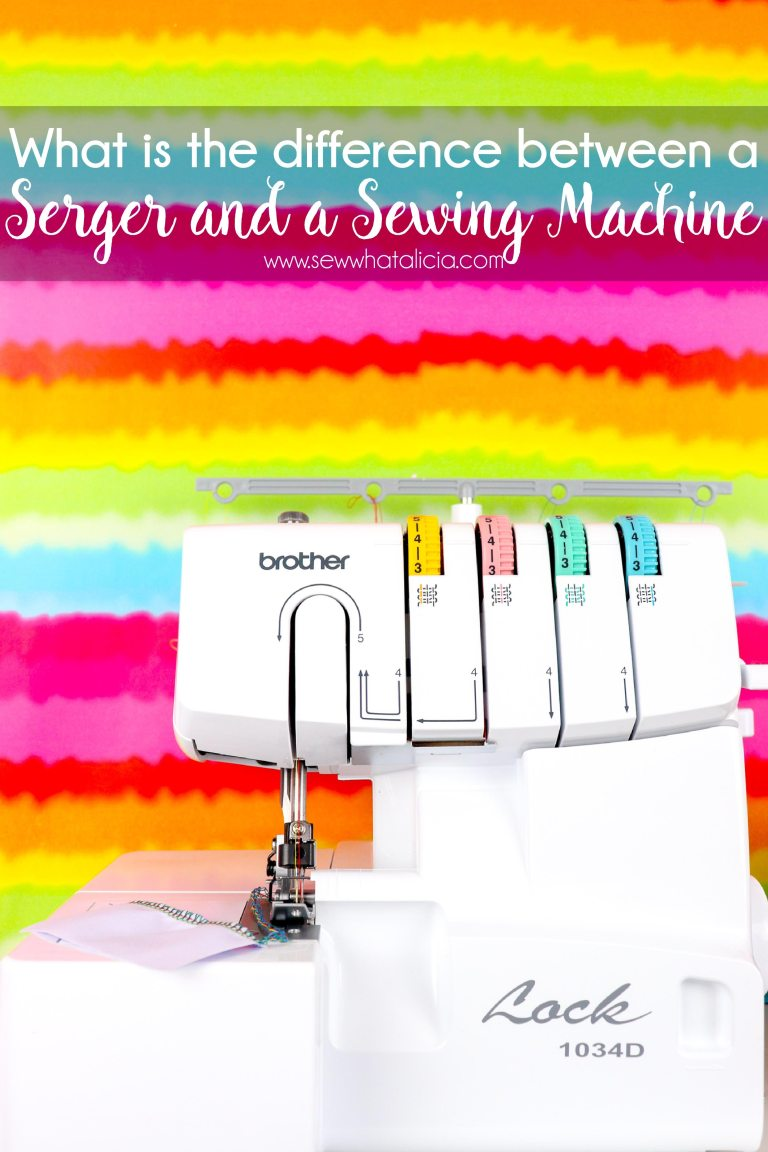 What is a sewing machine vs serger