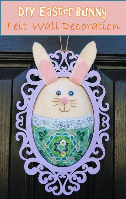 Tutorial: Felt Easter bunny frame