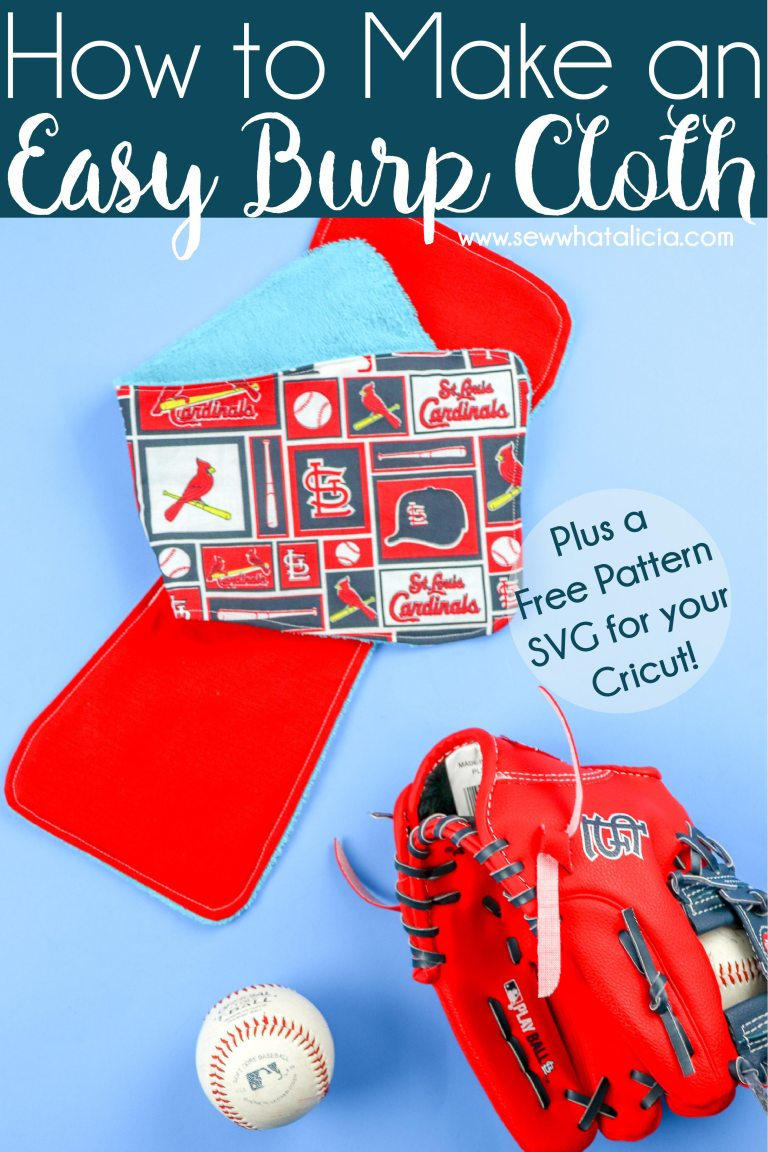 Free sewing pattern: Easy burp cloth