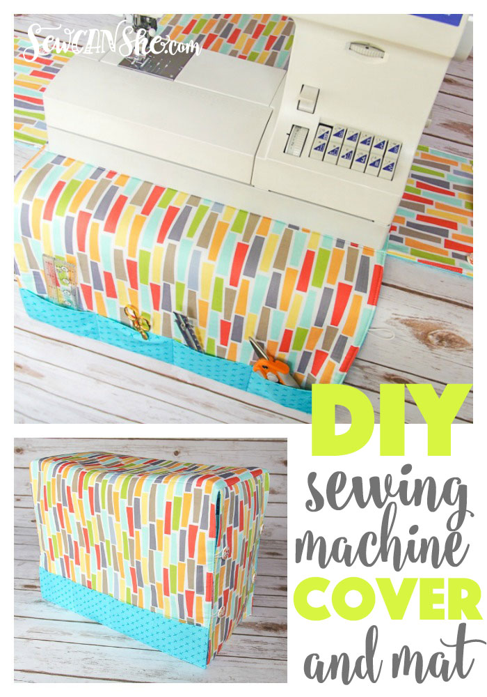 Sewing tutorial: Sewing machine mat and cover
