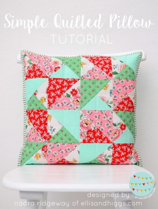 Sewing tutorial: Quilted patchwork pillow