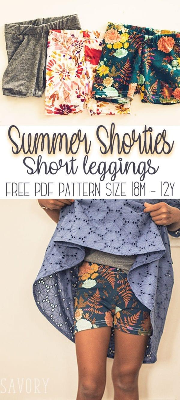 Free pattern: Girls shortie leggings