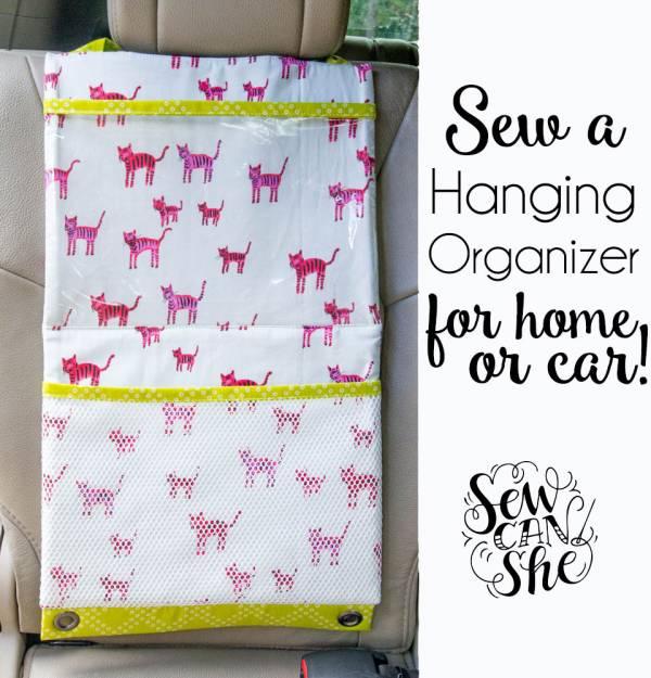 Sewing tutorial: Hanging pocket organizer