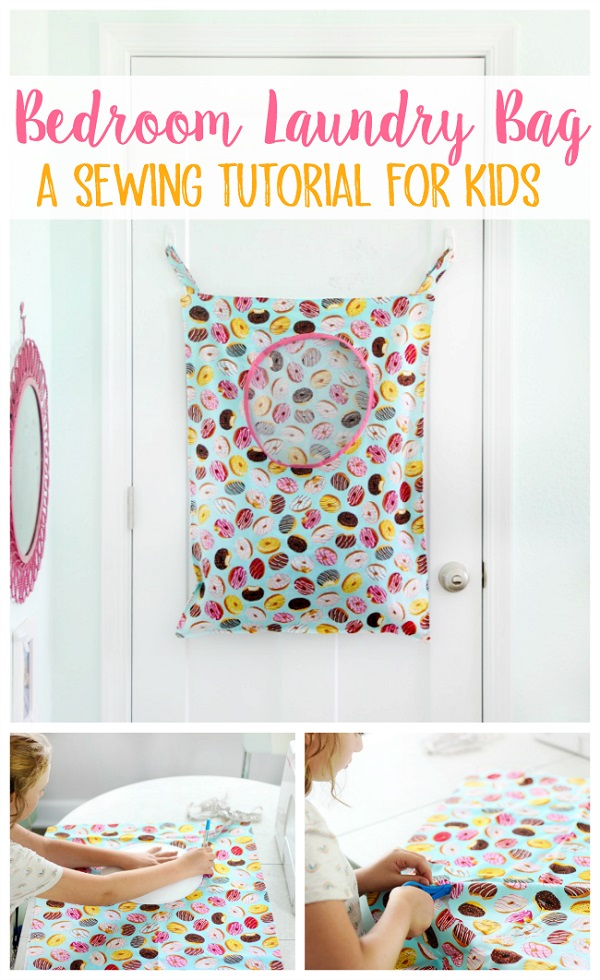 Sewing tutorial: Kids laundry bag perfect for small spaces