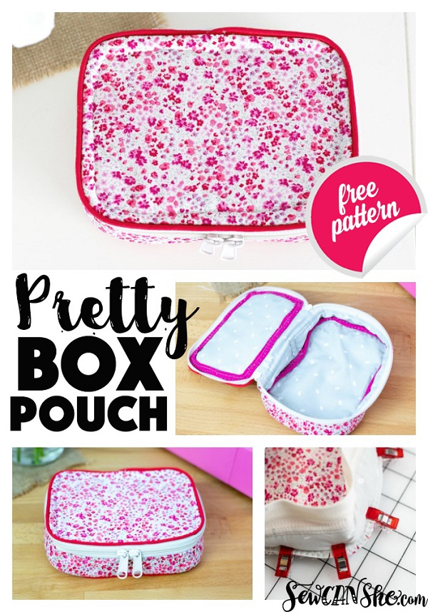 Sewing tutorial: Box pouch zippered case
