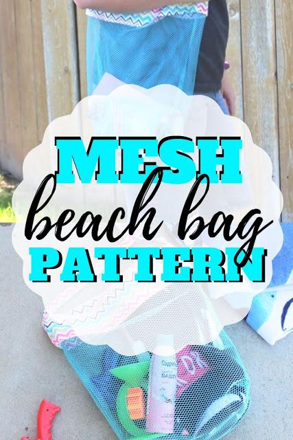 Sewing tutorial: Mesh beach bag