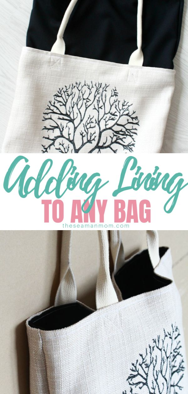 Sewing tutorial: Add a lining to a tote bag