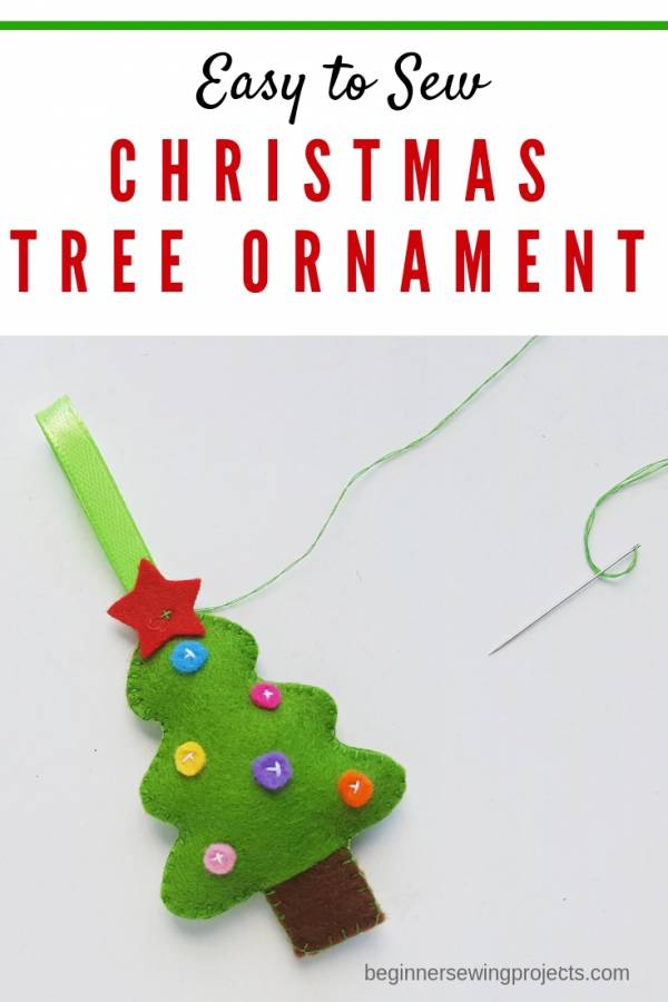Sewing tutorial: Felt tree Christmas ornament