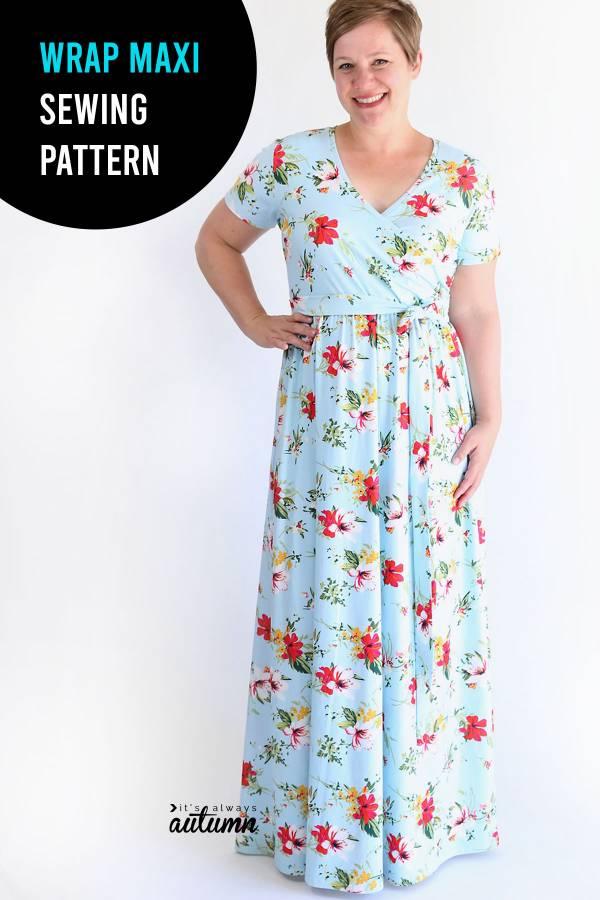 Free pattern: Wrap maxi dress