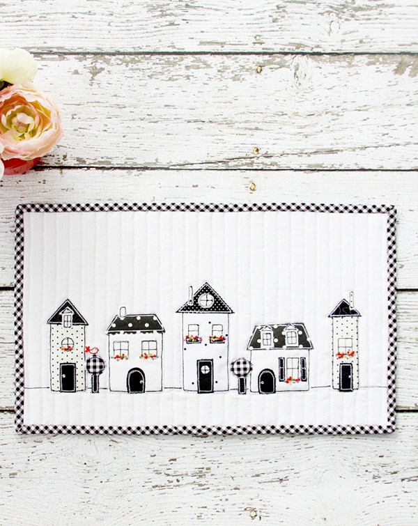 Sewing tutorial: Little houses mini quilt