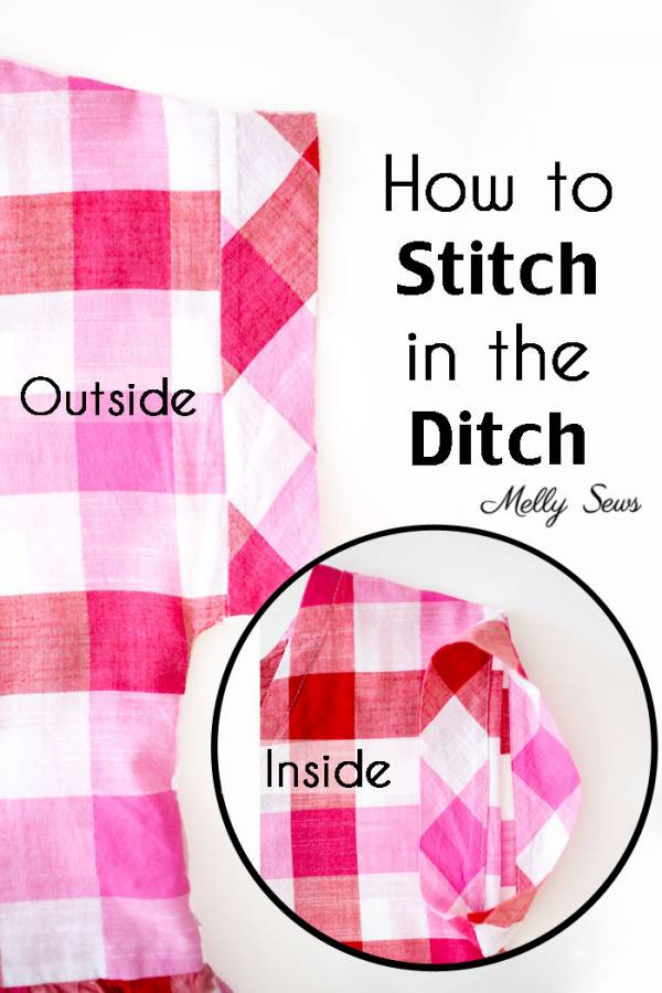 Sewing tutorial: Stitching in the ditch