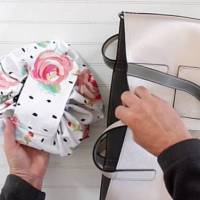 Sewing pattern: Drawstring makeup bag that opens flat