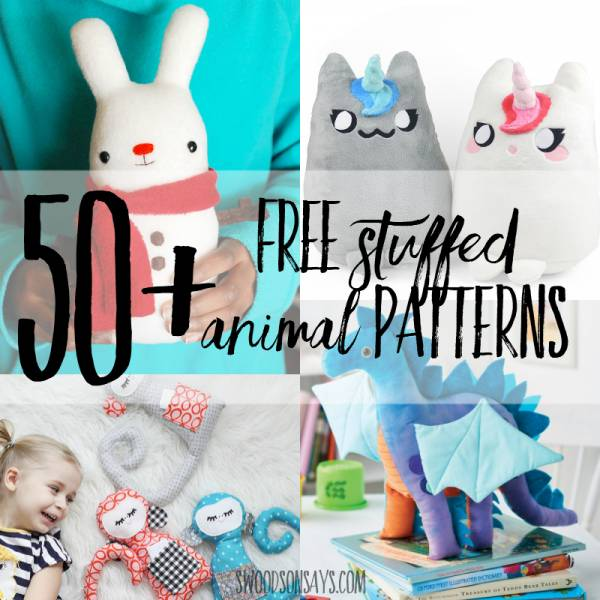 50 cute stuffed animal patterns to sew