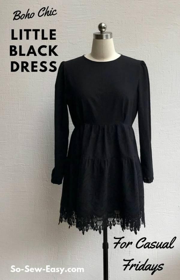 Free pattern: Womens Boho mini dress