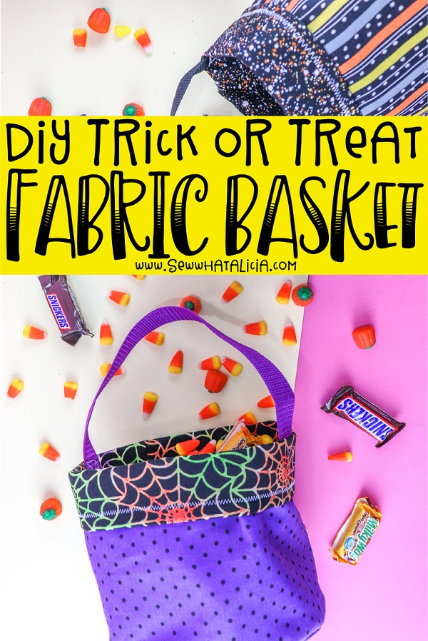 Sewing tutorial: Easy Trick or Treat bucket bag