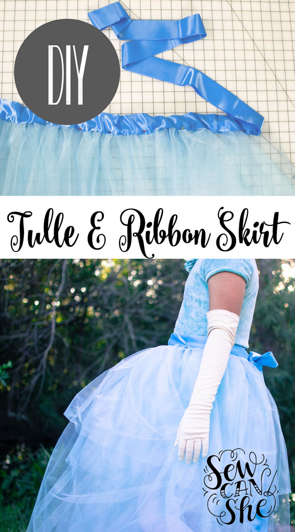 Sewing tutorial: Tulle wrap skirt for costumes