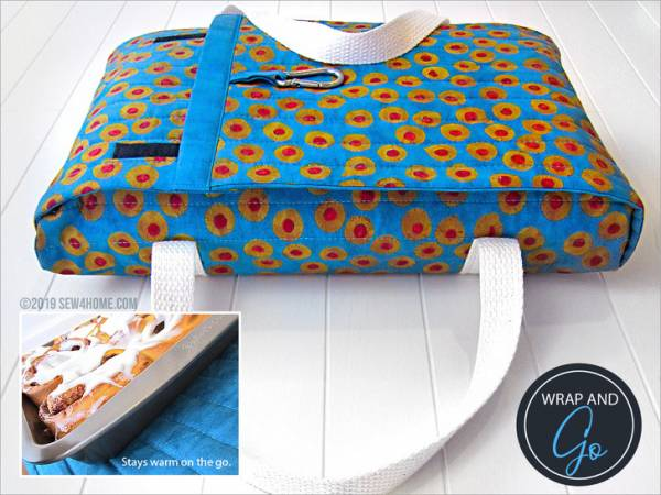 Sewing tutorial: Quilted casserole carrier