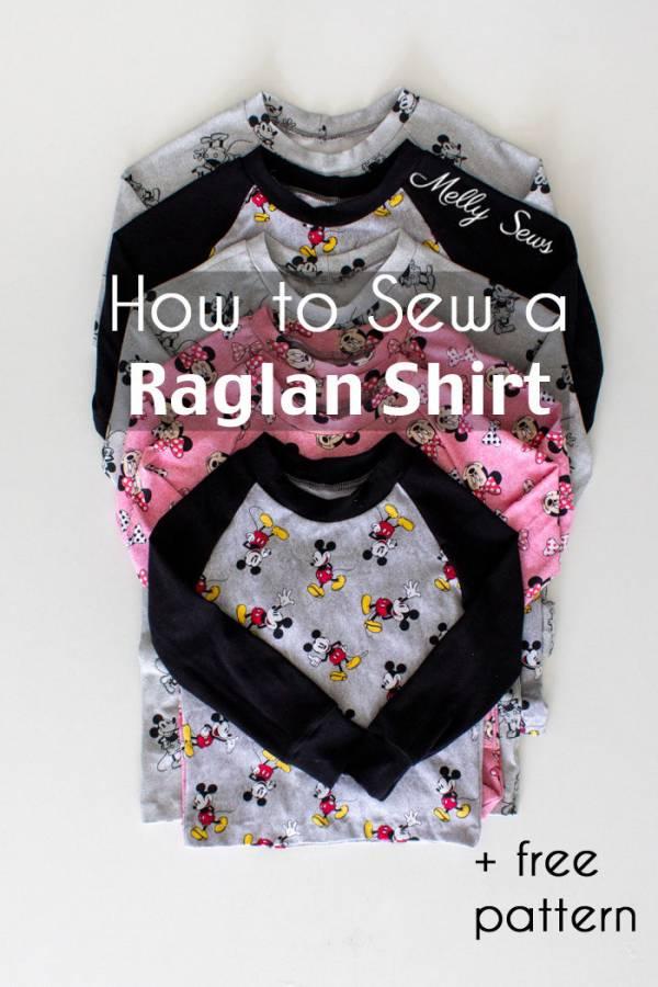 Sewing tutorial: Raglan sleeve pajama top for kids