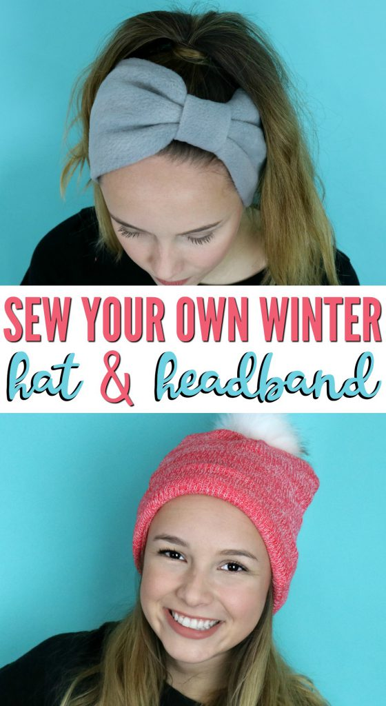 Sewing tutorial: Fleece winter hat and headband