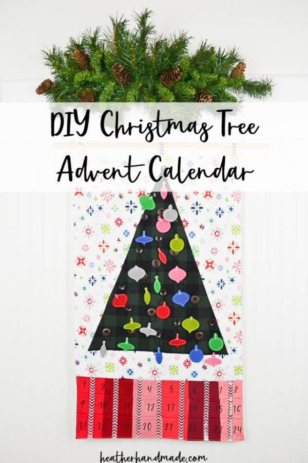 Sewing tutorial: Christmas tree Advent calendar