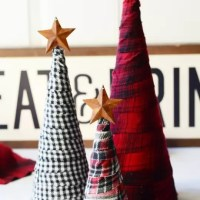 Tutorial: Scrap flannel Christmas trees