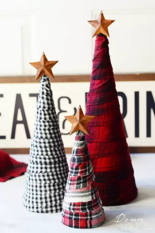 Tutorial: Scrap flannel trees