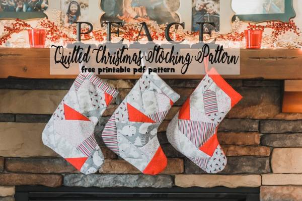 Sewing tutorial: Paper pieced Christmas stocking