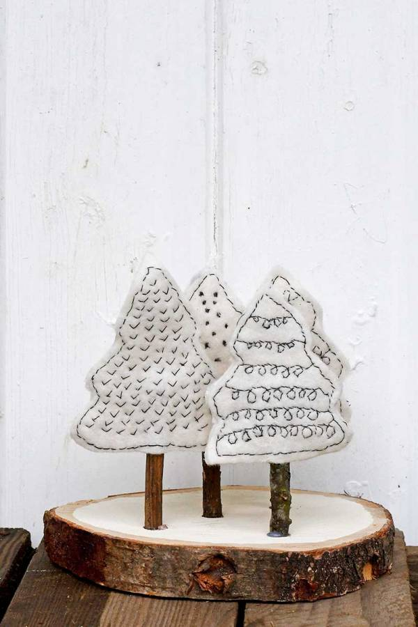 Sewing tutorial: Scandi felt Christmas trees