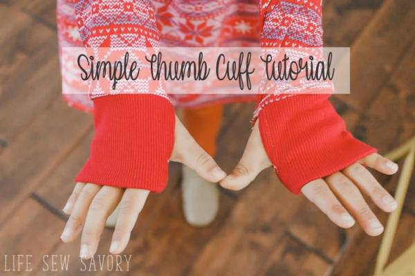 Sewing tutorial: Thumb hole cuffs