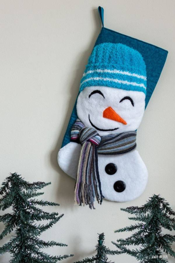 Free pattern: Snowman Christmas stocking