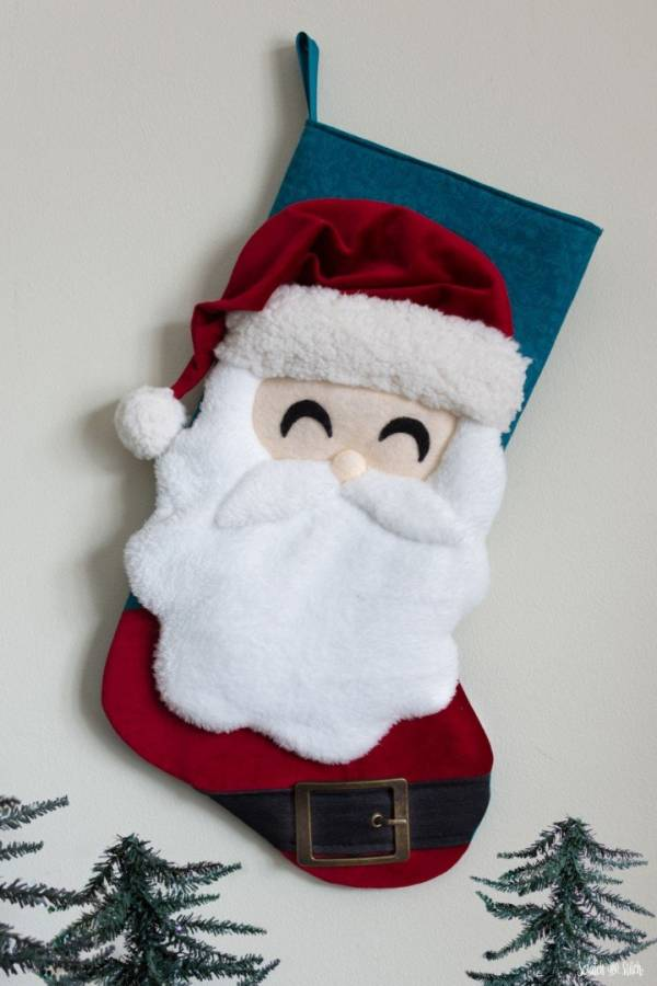 Free pattern: Santa Christmas stocking