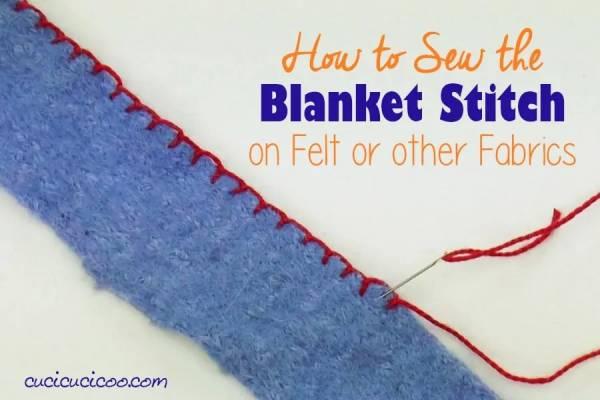 DIY sewing tutorial: Blanket stitch