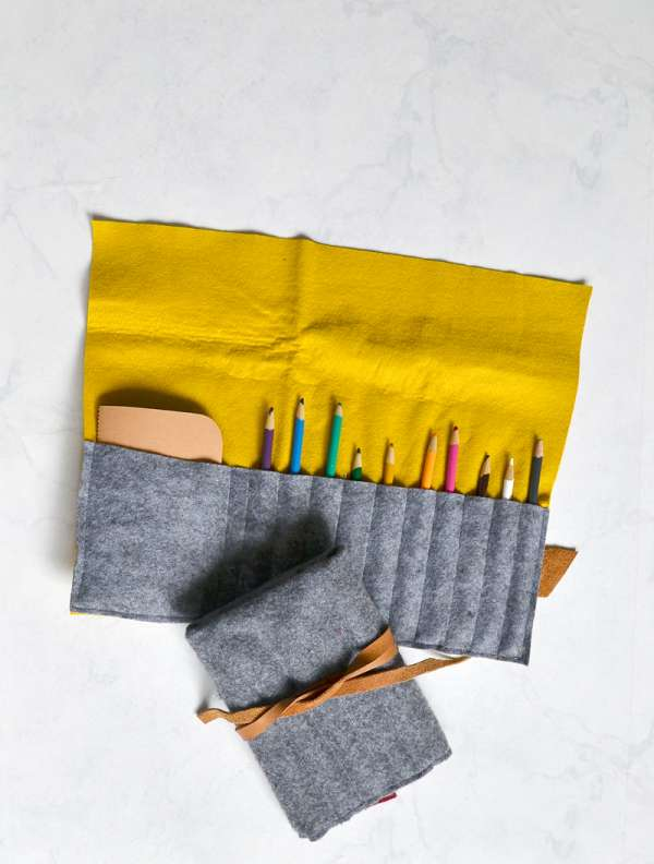 DIY sewing tutorial: Easy felt pencil case