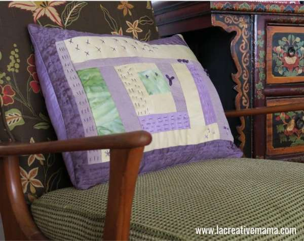 Sew an easy envelope pillow cover