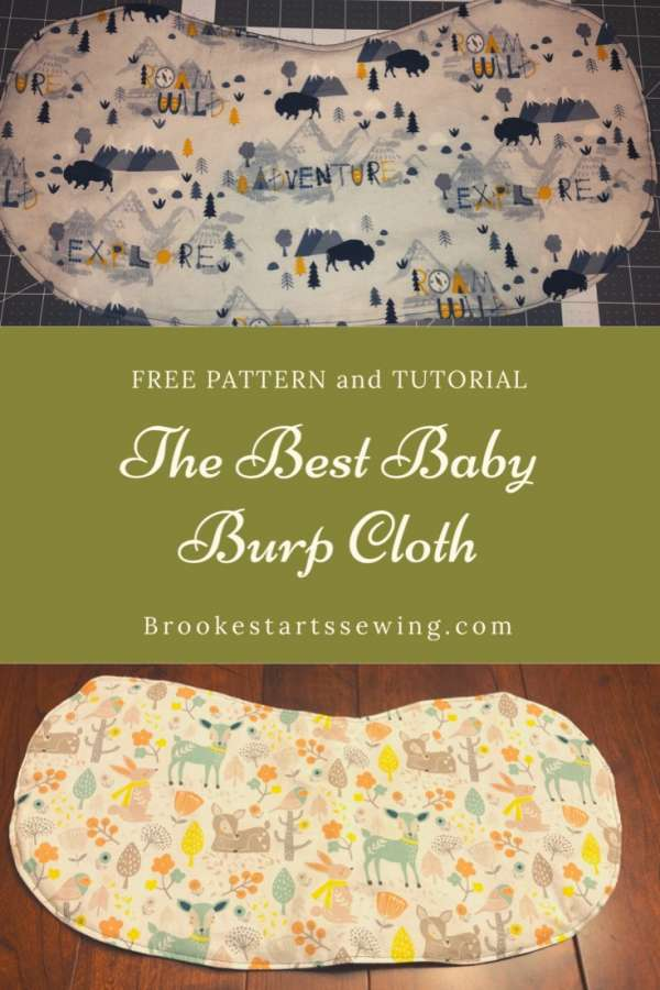 Easy Contoured Burp Cloth - Free Sewing Pattern