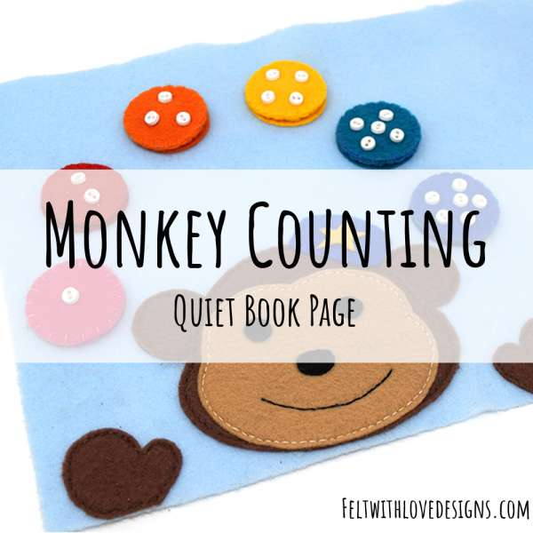 Monkey Counting Page for a Quiet Book - Free Sewing Pattern