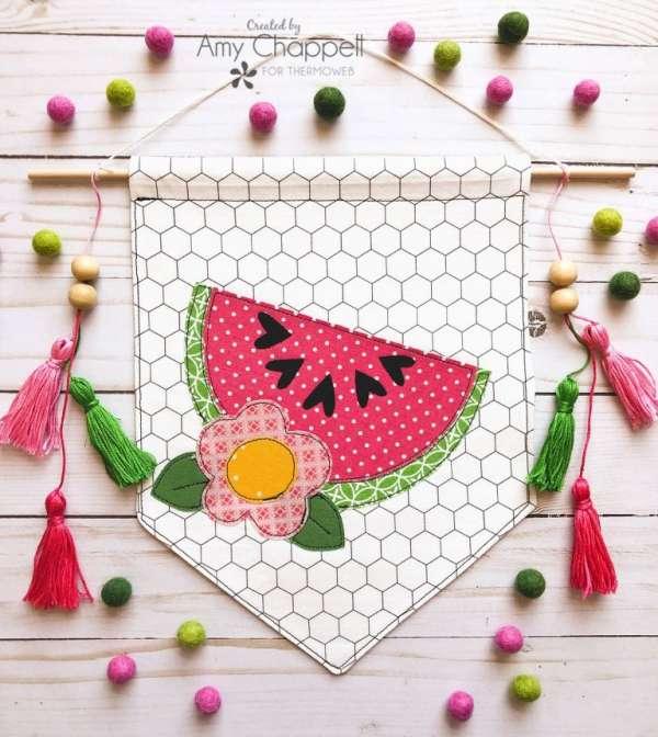 Cute Watermelon Summer Banner Free Sewing Pattern