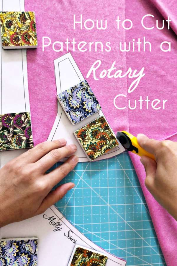 Use a rotary cutter to cut out your sewing patterns - Tutorial