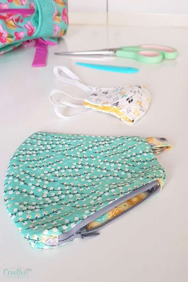 DIY Face Mask Pouch - Free Sewing Pattern - Sewing