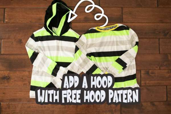 Sew a Hoodie T-shirt - Free Sewing Pattern