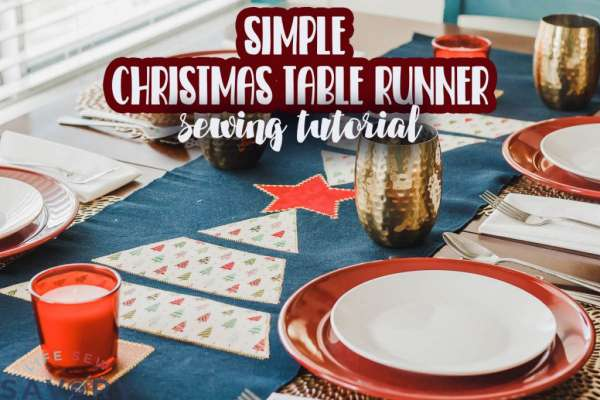 Easy Christmas Tree Table Runner - Free Sewing Pattern