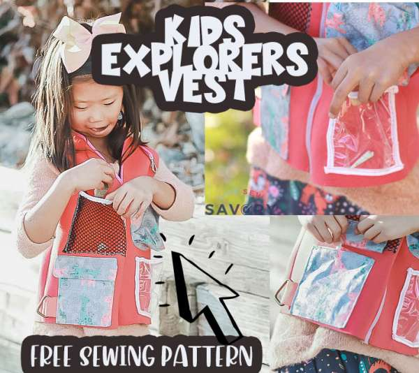 Kids Explorer Vest With Lots of Pockets - Free Sewing Pattern