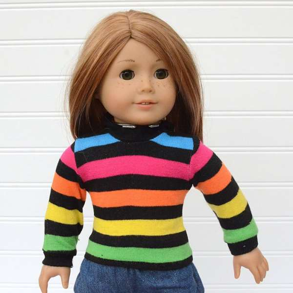 "Doll Sweater for American Girl or 18"" Dolls - Free Sewing Pattern"