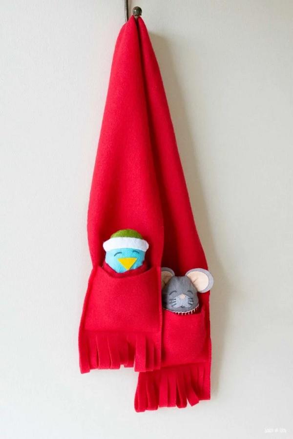 Easy Pocket Scarf for Kids - DIY Sewing Tutorial