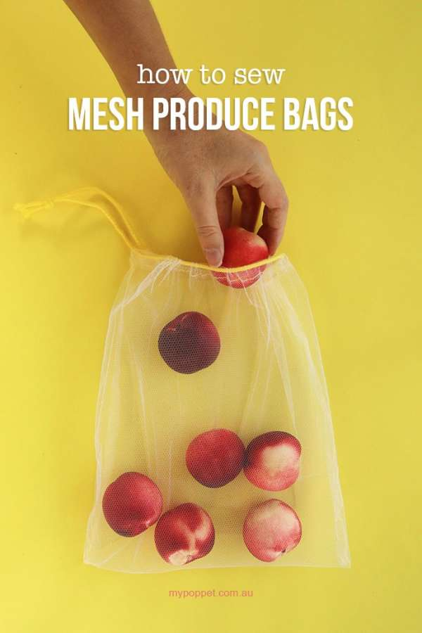 Reusable Mesh Produce Bags - DIY Sewing Tutorial