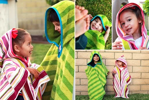 Hooded Towel Poncho for Kids - DIY Sewing Tutorial