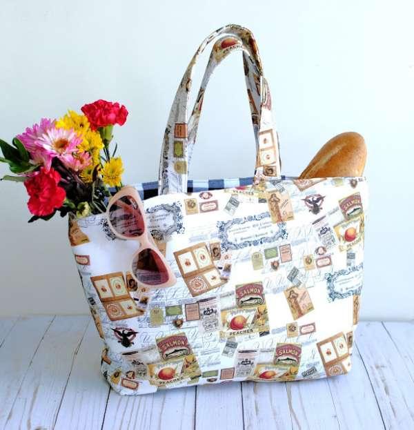 Reversible Tote Bag - Easy Sewing Tutorial